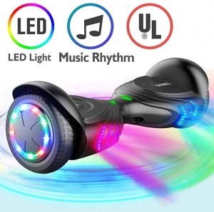 ihocon: TOMOLOO Music-Rhythmed Hover Board, UL2272 Certificated with Music Speaker- Colorful RGB LED Light (K1) 雙輪音樂自動平衡車
