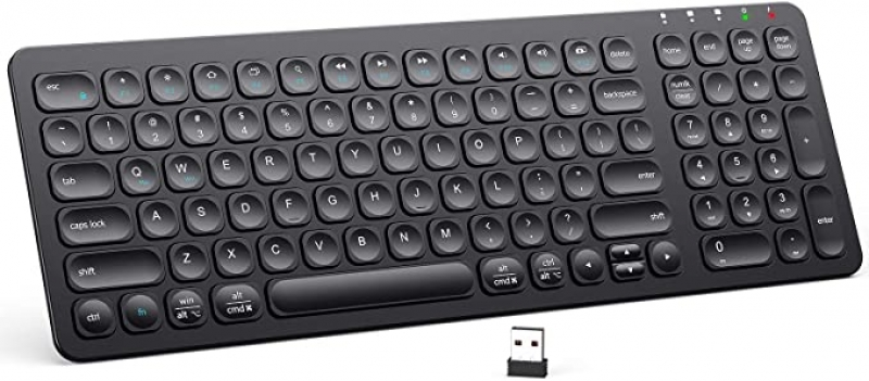 ihocon: iClever GKA2-01B Rechargeable 2.4G Full Size Computer Keyboard 充電式無線鍵盤