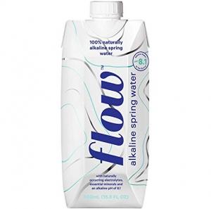 Flow 100% 天然鹼性礦泉水500ml 12瓶 $11.99免運(原價$19.99)