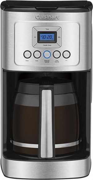 ihocon: Cuisinart DCC-3200 Glass Carafe Handle Programmable Coffeemaker, 14 Cup Stainless Steel  咖啡機