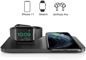ihocon: Seneo 2 in 1 Dual Wireless Charging Pad with iWatch Stand 2合1 手機/手錶無線充電器