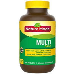 ihocon: Nature Made Multi Daily Vitamin With Iron and Calcium, Value Size, 300 Tablets  綜合維他命