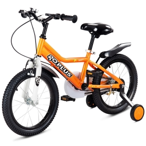ihocon: Goplus 12'' Kids Bicycle Outdoor Sports Bike W/ Training Wheel Brakes Boys Girls Cycling  兒童自行車帶訓練輪