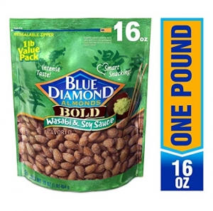ihocon: Blue Diamond Almonds, Bold Wasabi & Soy Sauce, 16 Ounce (Pack of 1) 藍鑽杏仁