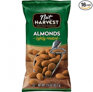 ihocon: Nut Harvest Lightly Roasted Almonds, 2.25 Ounce (Pack of 16)  烤杏仁