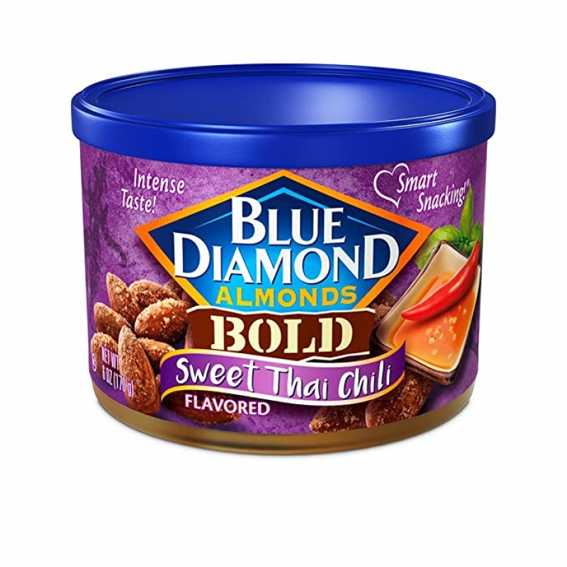 ihocon: Blue Diamond Almonds Sweet Thai Chili Flavored Snack Nuts, 6 Oz (Pack of 1)杏仁, 泰式口味
