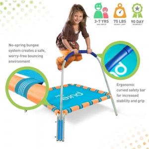 ihocon: Pure Fun Kids Jumper 38 in. Bungee Trampoline With Handrail 兒童蹦跳床