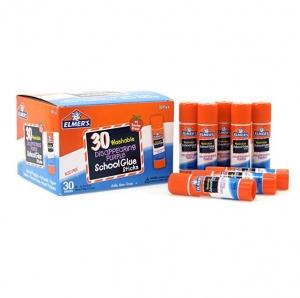 ihocon: Elmer's Disappearing Purple School Glue, Washable, 30 Pack, 0.24-ounce sticks  黏膠