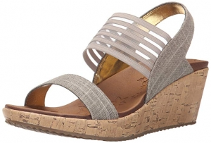 ihocon: Skechers Cali Women's Beverlee Smitten Kitten Wedge Sandal  女士涼鞋