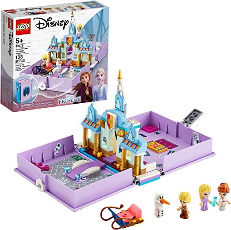 ihocon: [2020新款] LEGO Disney Anna and Elsa's Storybook Adventures 43175 Creative Building Kit(133 Pieces) 遊戲組