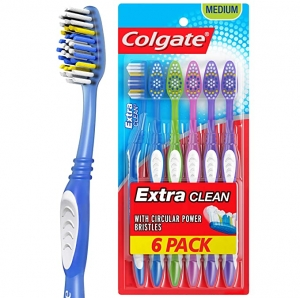 ihocon: Colgate Extra Clean Full Head Toothbrush, Medium - 6 Count 高露潔牙刷