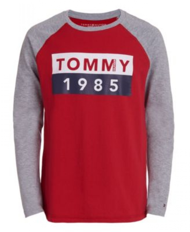 ihocon: Tommy Hilfiger Toddler Boys Abstract Flag Long Sleeve T-Shirt 男童長袖衫