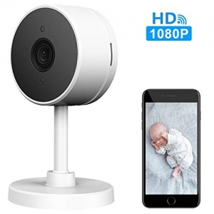 ihocon: LARKKEY WiFi Home Security Surveillance Camera 1080P, Smart Baby Monitor Compatible with Alexa and Google Home居家安全動作感應監控鏡頭