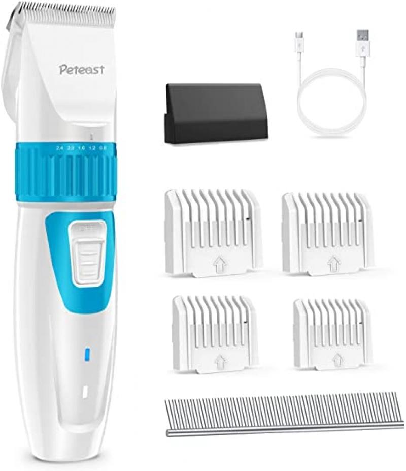ihocon: Peteast 2-Speed Pet Grooming Clippers, Low Noise 低噪音寵物電動剃毛器