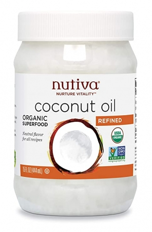 ihocon: Nutiva Organic, Steam Refined Coconut Oil from non-GMO, Sustainably Farmed Coconuts, 15 Fl Oz (Pack of 1) 有機椰子油