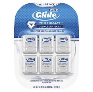 ihocon: Glide Oral-B Pro-Health Deep Clean Floss, Mint, Pack of 6 薄荷口味牙線