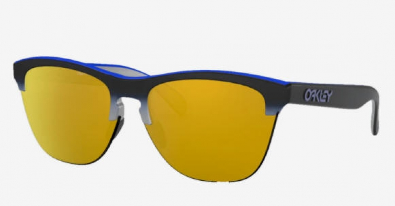 ihocon: Oakley Frogskins Lite Splatterfade Collection Sunglasses Blue Black Fade/24K Iridium 太陽眼鏡