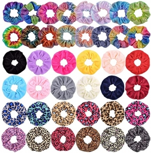 ihocon: YHXX YLEN 40 Pcs Hair Scrunchies Velvet Elastic Hair Bands 綁髮帶