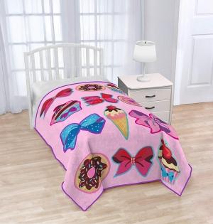 ihocon: Nickelodeon JoJo Siwa Follow Your Dreams Plush Twin Blanket 單人毯