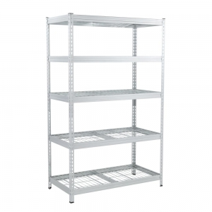 ihocon: Husky 78 in. H x 48 in. W x 24 in. D Galvanized Steel 5-Tier Shelf with Wire Mesh Panels 五層金屬架