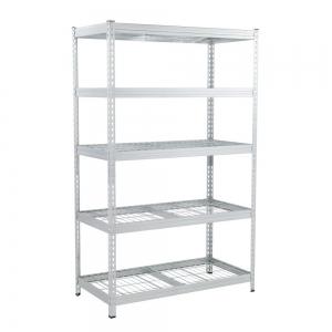 ihocon: Husky 78 in. H x 48 in. W x 24 in. D Galvanized Steel 5-Tier Shelf with Wire Mesh Panels 五層金屬架
