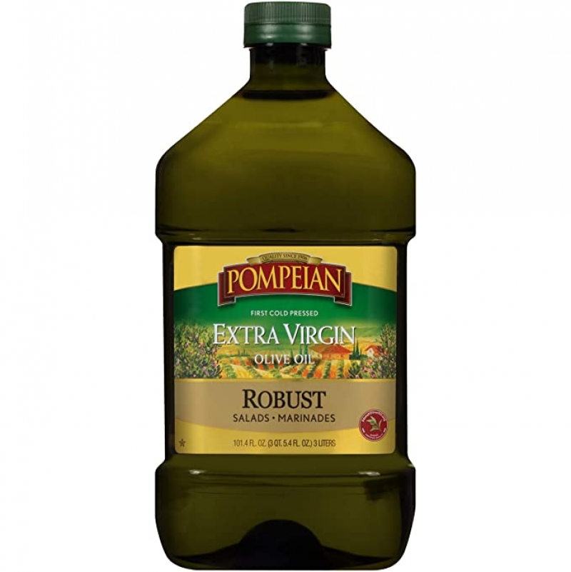 ihocon: Pompeian Robust Extra Virgin Olive Oil, 101 FL. OZ.特級冷壓初榨橄欖油