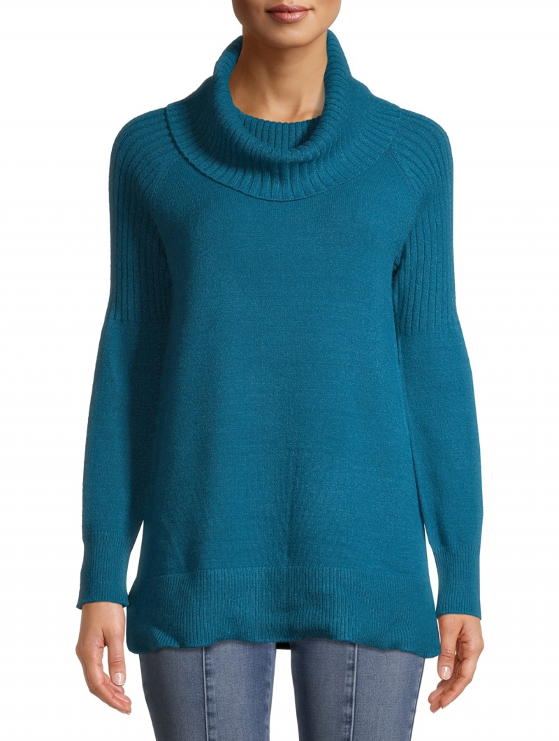 ihocon: Time and Tru Time and Tru Women's Cowl Neck Tunic Sweater 女士毛衣-多色可選