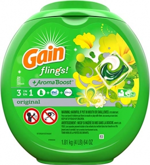 ihocon: Gain flings! Liquid Laundry Detergent Pacs, Original, 81 Count洗衣膠囊