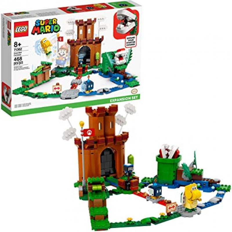 ihocon: 樂高超級瑪利歐LEGO Super Mario Guarded Fortress Expansion Set 71362 Building Kit, New 2020 (468 Pieces)