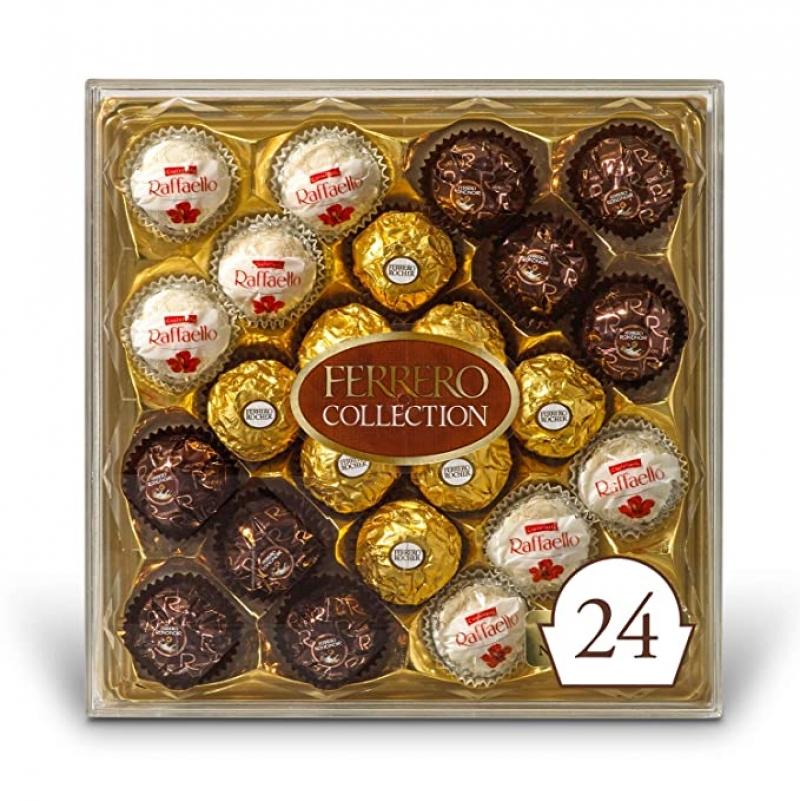 ihocon: Ferrero Rocher Collection, Fine Hazelnut Milk Chocolates, 24 Count 金莎巧克力,24粒