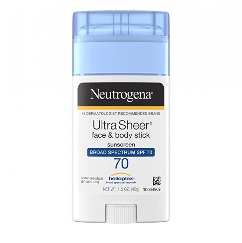 ihocon: Neutrogena Ultra Sheer Broad Spectrum SPF 70 UVA/UVB Sunscreen Stick, PABA-Free, 1.5 oz 露得清防曬棒