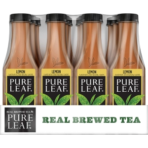 ihocon: Pure Leaf Iced Tea, Lemon, Sweetened, Real Brewed Black Tea, 18.5 Fl. Oz Bottles (Pack Of 12)