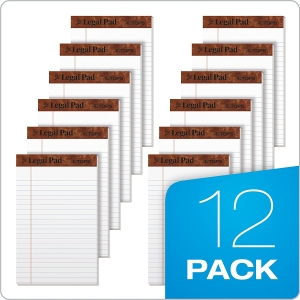 ihocon: TOPS The Legal Pad Writing Pads, 5 x 8, Jr. Legal Rule, 50 Sheets, 12 Pack 書寫紙
