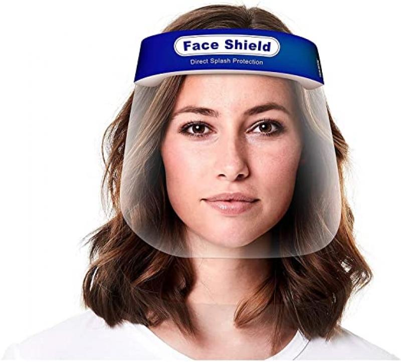 ihocon: True Snap Reusable Transparent Anti-Fog Visor Full Face Safety Cover 5-Pack 防護面罩