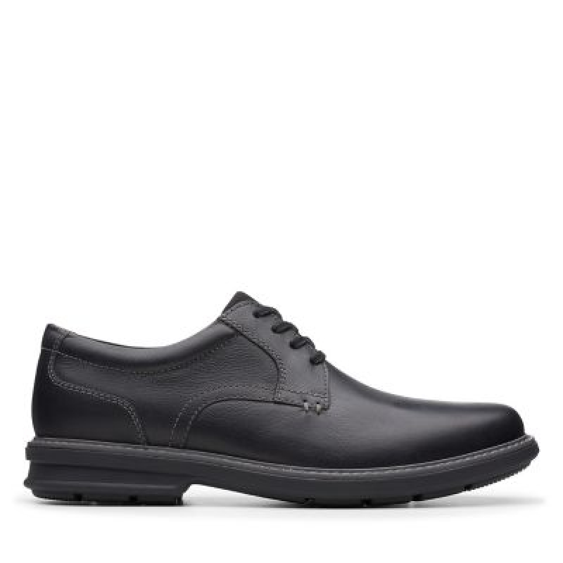 ihocon: Clarks Rendell Plain Black Leather男鞋