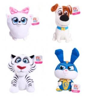 ihocon: Universal Secret Life Of Pets 2 Small Plush (Max, Gidget, Snowball & Hu)絨毛玩具