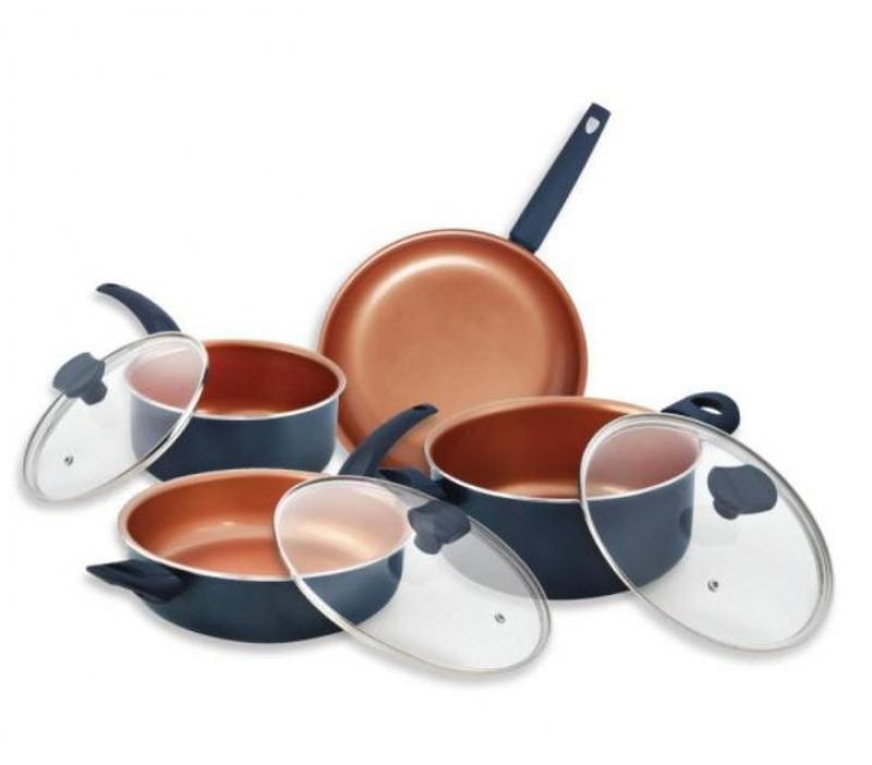 ihocon: IKO Copper Collection 16-Piece Copper Nonstick Cookware Set不沾鍋組