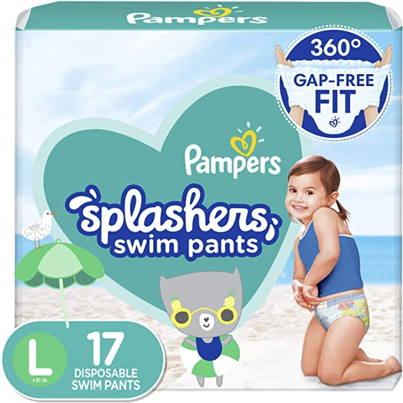 ihocon: Pampers Splashers Swim Diapers Size 5 17 Count 幫寶適游泳尿布