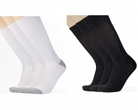 ihocon: Awesome 360 Men's Cotton Half Cushion Over-the-calf Socks, 3 Pack男士棉襪3雙-2色可選