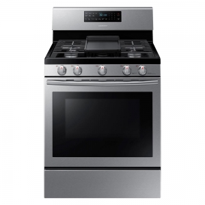 ihocon: Samsung 30 in. 5.8 cu. ft. Gas Range with Self-Cleaning and Fan Convection Oven in Stainless Steel 不銹鋼不銹鋼電爐頭及烤箱一體機