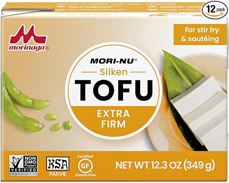 Mori-Nu non-GMO 非轉基因 豆腐, extra Firm, 12盒 $9.24(原價$19.08)