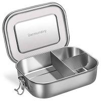 ihocon: Bermunavy 3-Compartment Metal Bento Lunch Box 3隔不銹鋼防漏便當盒