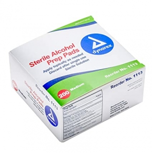 ihocon: Dynarex Alcohol Prep Pad Sterile, Medium, 200 count 酒精消毒片