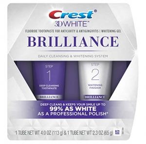 ihocon: Crest 3D White Brilliance Toothpaste and Whitening Gel System, 4.0oz and 2.3oz  美白牙膏和美白凝膠