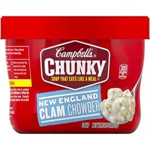 ihocon: Campbell'sChunky New England Clam Chowder, 15.25 oz. Bowl (Pack of 8) 康寶蛤蜊濃湯
