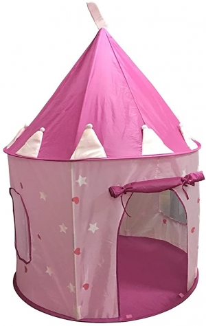 ihocon: SueSport Girls Princess Castle Play Tent, Pink公主城堡遊戲帳
