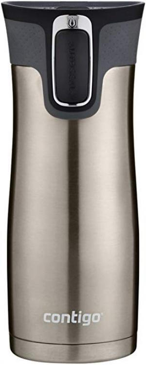 ihocon: Contigo 2034154 Stainless Steel AUTOSEAL West Loop Vaccuum-Insulated Travel Mug, 16 oz  不銹鋼保温杯