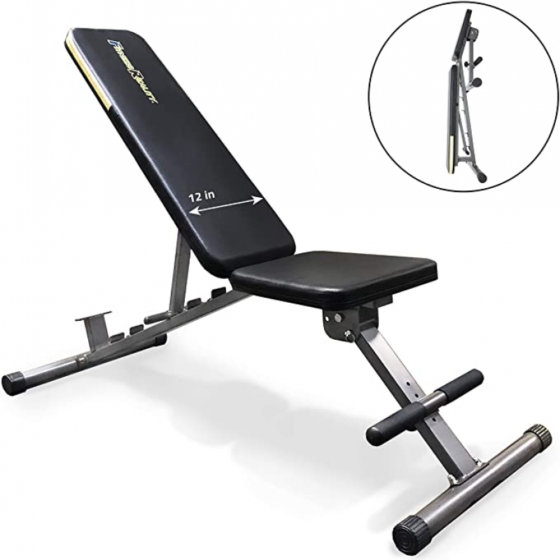 ihocon: Fitness Reality 1000 Super Max Weight Bench with Upgraded Wider Backrest/Seat 運動健身椅
