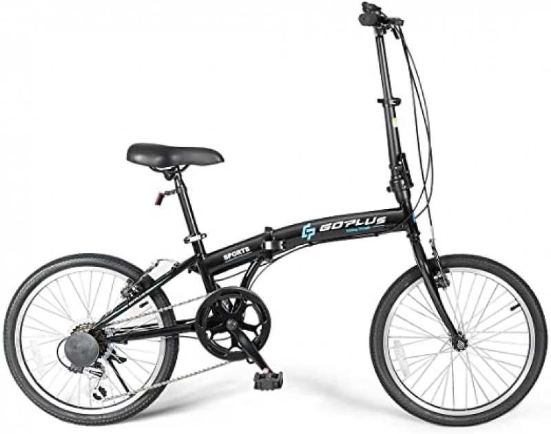 ihocon: Goplus 20'' Folding Bike, 7 Speed 折疊自行車