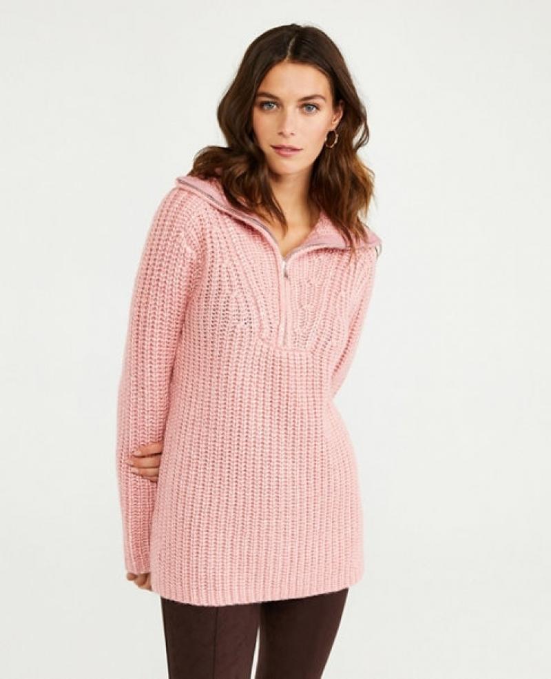 ihocon: Ann Taylor Zip Collar Sweater 女士毛衣